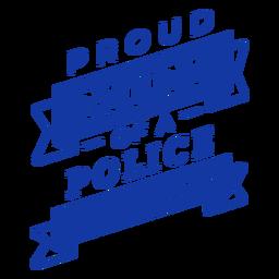 Letras de mãe orgulhosa da polícia