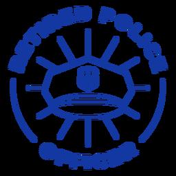 Police retired officer lettering