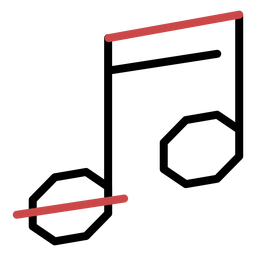 Polygon beam notes stroke
