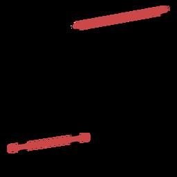 Traço de notas de feixe poligonal