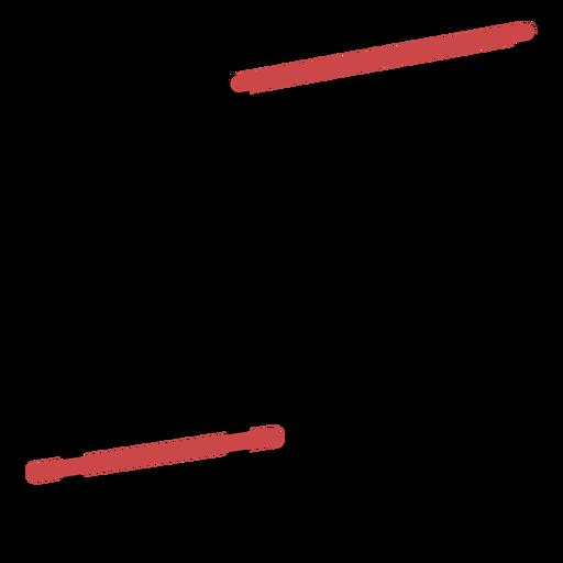 Trazo de notas de viga poligonal Transparent PNG