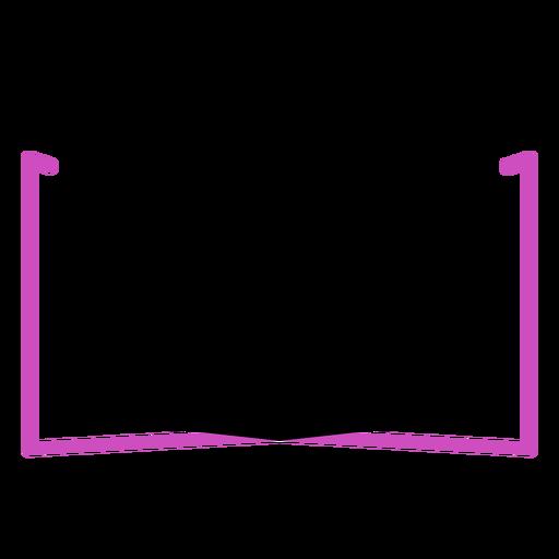 Polygon book stroke