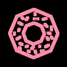 Trazo de donut polígono octágono