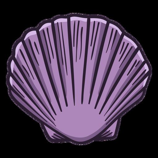 Dibujado a mano conchas marinas calico vieira