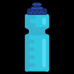 Botella de agua deportiva plana