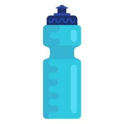 Sports water bottle flat