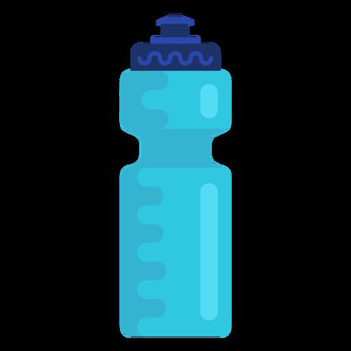 Sports water bottle flat