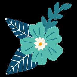 Rama de flor de primavera plana