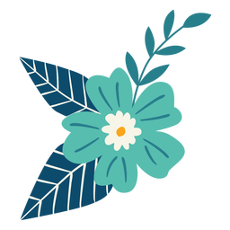 Ramo de flores de primavera plana