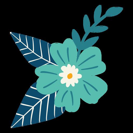 Spring flower branch flat Transparent PNG