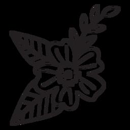 Trazo de rama de flor de primavera
