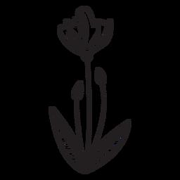 Brotes de flores de primavera hojas de trazo
