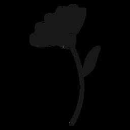 Hoja de flor de primavera