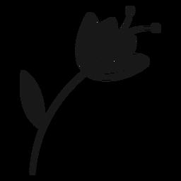 Spring flower leaf pollen