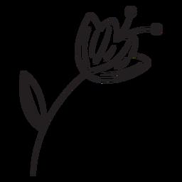 Curso de pólen de folha de flor de primavera