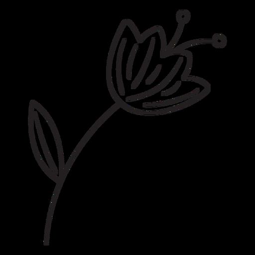 Trazo de polen de hoja de flor de primavera