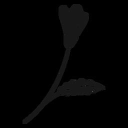 Hoja de flor de primavera pequeña