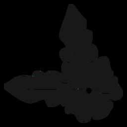 Flor de primavera hojas grandes