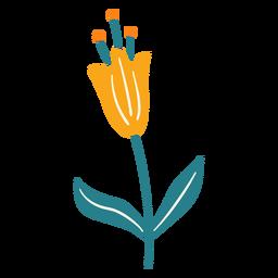 Flor de primavera deja polen pequeño plano