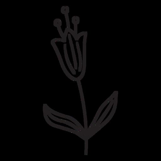 Flor de primavera deja polen pequeño trazo