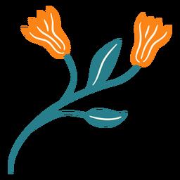 Flores de primavera hojas planas