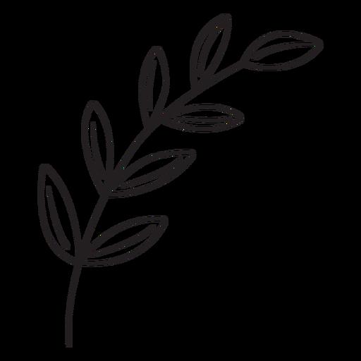 Spring leaves stroke