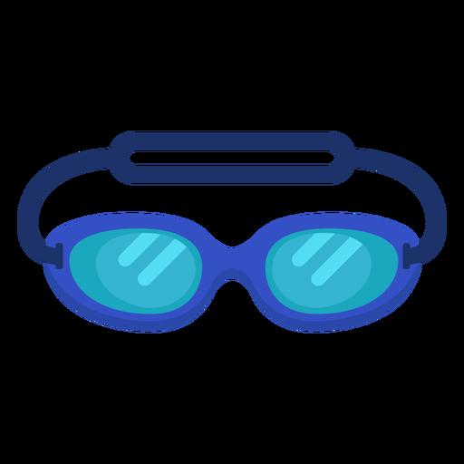 Swimming goggles flat