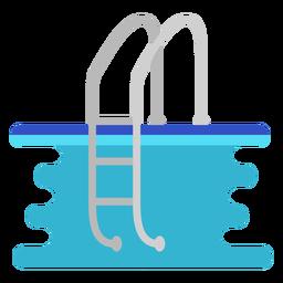 Escalera de piscina plana