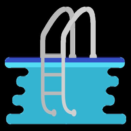 Swimming pool ladder flat