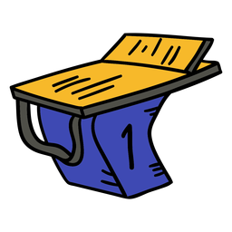 Piscina podio dibujado a mano