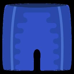 Swimming trunk flat