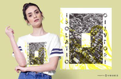 Diseño de camiseta de aislamiento creativo