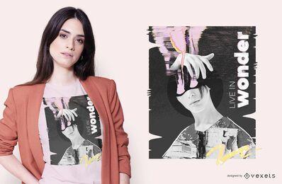 Diseño creativo de camiseta Wonder