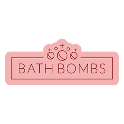 Bathroom label bath bombs flat