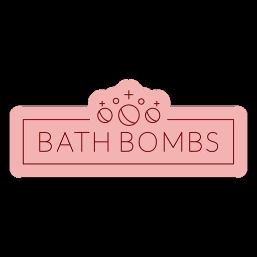 Etiqueta de baño bombas de baño planas