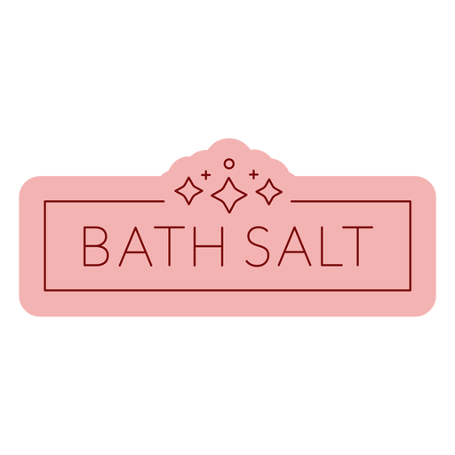 Bathroom label bath salt flat Transparent PNG