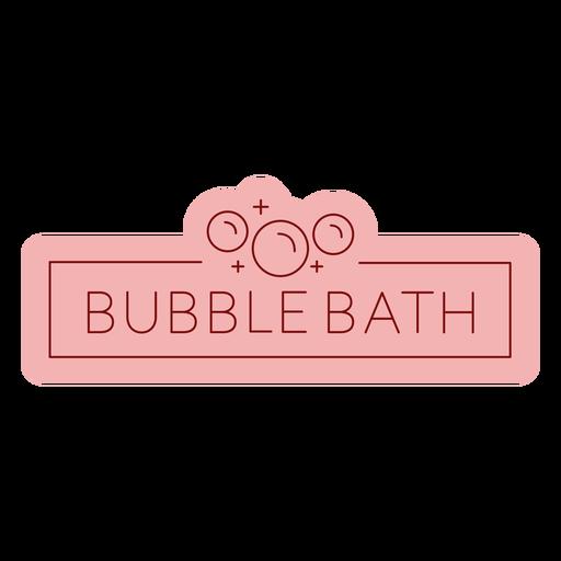 Bathroom label bubble bath flat Transparent PNG