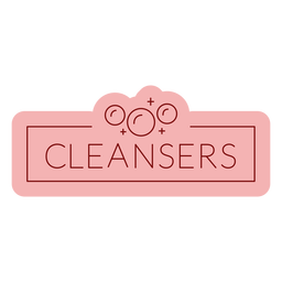 Bathroom label cleansers flat