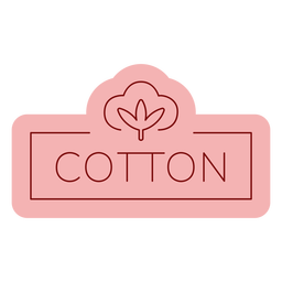 Bathroom label cotton flat