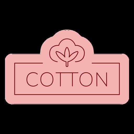 Etiqueta de baño plana de algodón