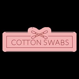 Etiquetas de baño hisopos de algodón planos