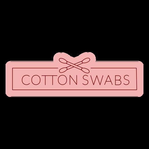 Bathroom label cotton swabs flat Transparent PNG