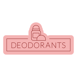 Bathroom label deodorants flat