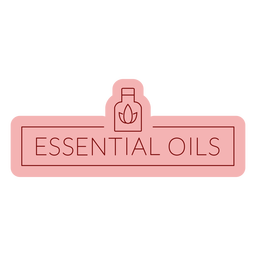 Bathroom label essential oils flat