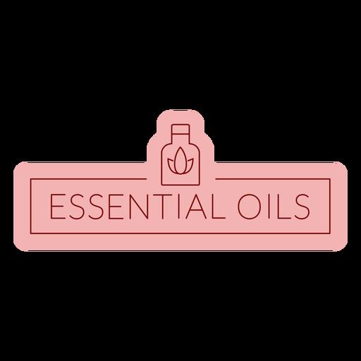 Bathroom label essential oils flat