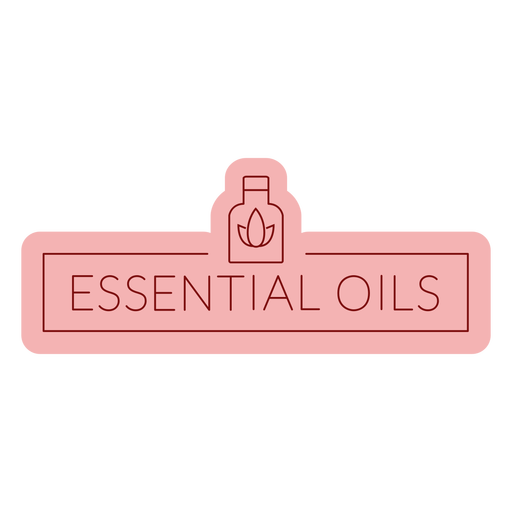 Etiqueta de baño aceites esenciales planos