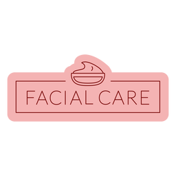 Bathroom label facial care flat