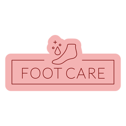 Bathroom label footcare flat