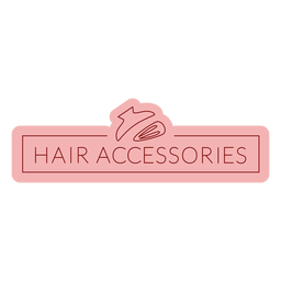 Bathroom label hair accessories flat