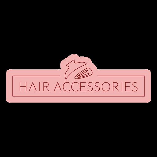 Bathroom label hair accessories flat